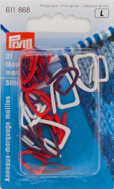 Segna maglie Prym confezione da 21 pezzi.