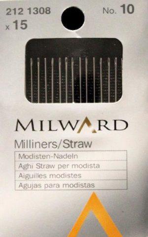 Aghi Milward da modista n. 10. Cartina da 15 aghi