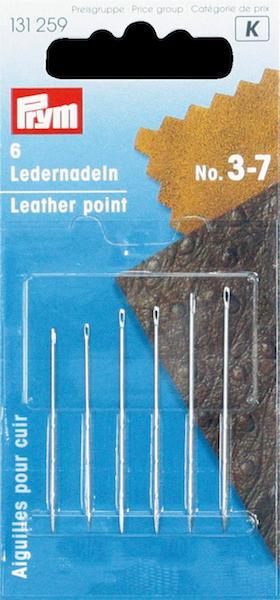 Aghi Prym da pelle n. 3-7. Cartina da 6 aghi