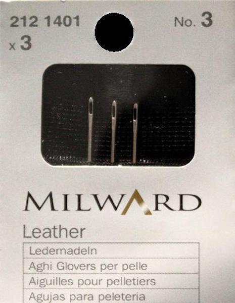 Aghi Milward per pelle. Cartina da 3 aghi
