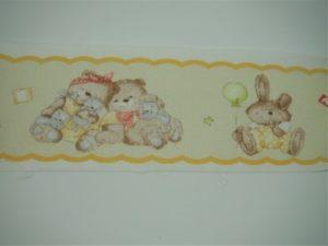 Bordo fantasia baby giallino 100% cotone 7cm