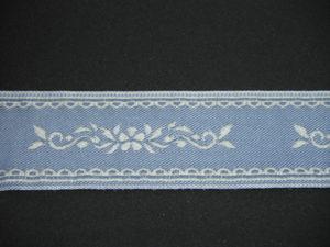 Nastro fantasia jeans 50mm. Composizione 60% cotone 40% lino
