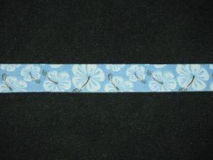 Nastro fantasia floreale celeste 12mm. Composizione 100% poliestere