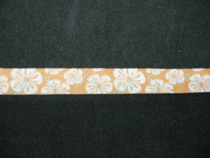 Nastro fantasia floreale giallo 12mm. Composizione 100% poliestere