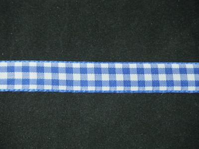 Nastro quadrettato zephir blu e bianco 10mm