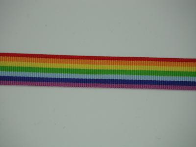 Nastro multicolore 15mm. Composizione 100% poliestere