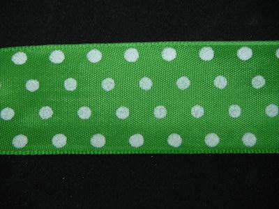 Nastro fantasia pois verde e bianco 40mm