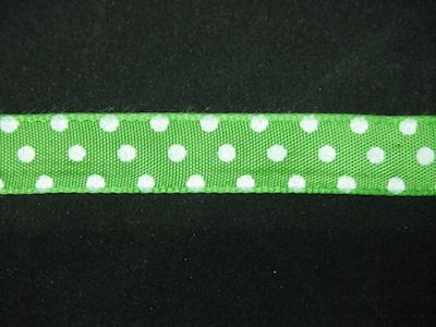 Nastro fantasia pois verde e bianco 16mm