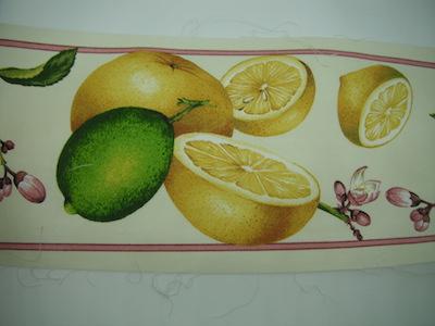 Nastro fantasia limoni Le Torri altezza 13cm