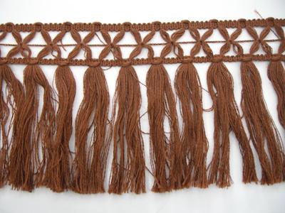 Frangia in lana 15cm marrone