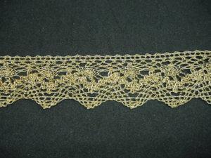 Merletto lurex oro semi-metallico altezza 3 cm