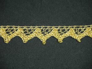 Merletto lurex oro altezza 2 cm