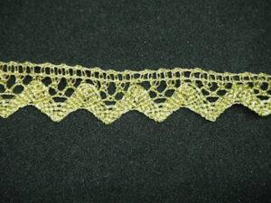 Merletto lurex oro altezza 1,5 cm