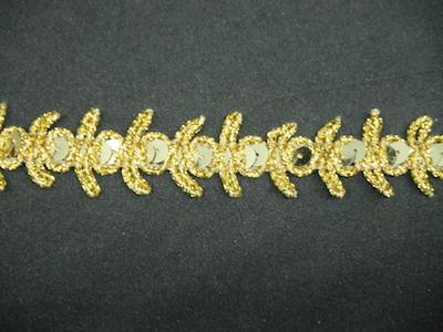 Copripunto con paillettes lurex oro altezza 2 cm