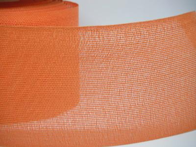 Nastro tipo Juta arancione, altezza 10 cm