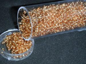 Perline conteria oro scuro
