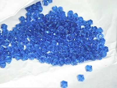 Strass sfaccettato bicono bluette 0.4cm