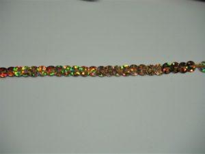 Filo di paillettes sfaccettate oro aurora boreale 0.5cm