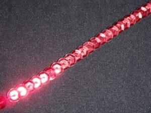 Filo di paillettes sfaccettate rosso 0.5cm